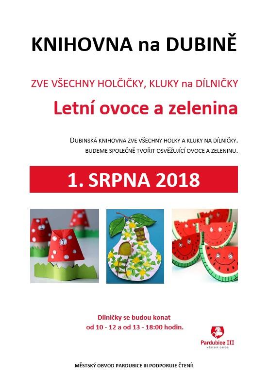 1.8.2018 Letní ovoce a zelenina