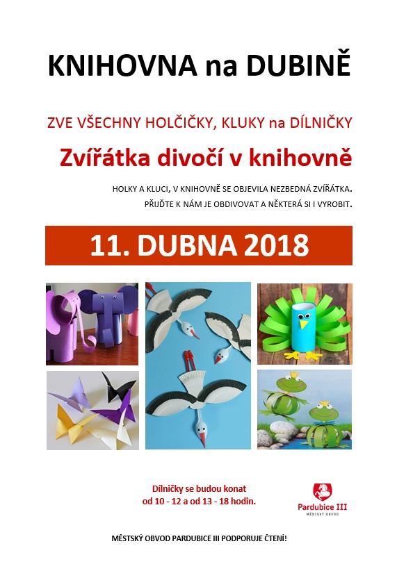 11.4.2018 Zvířátka divočí dílničky