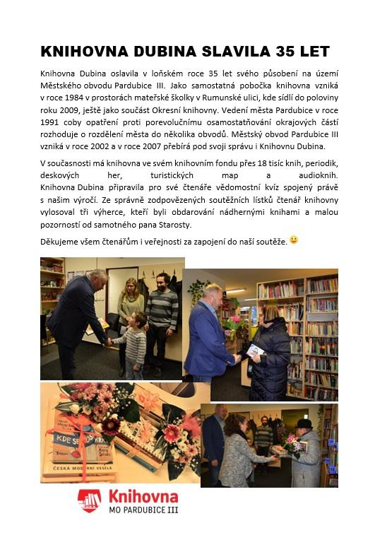 35 let knihovna ČLÁNEK