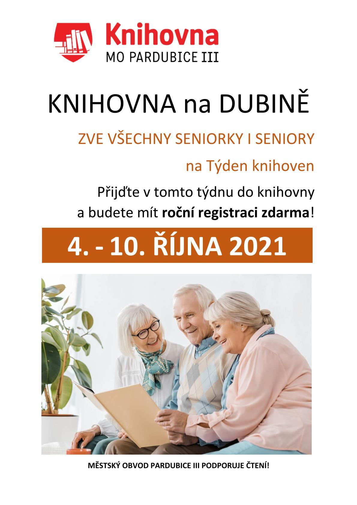 Týden seniorů knihovna 2021 SENIOŘI