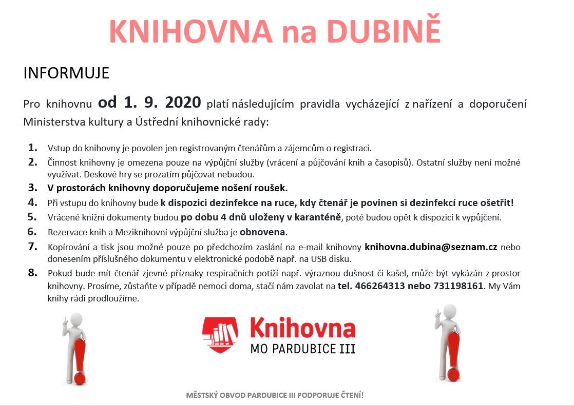 pravidla čtenáři od 1.9.2020