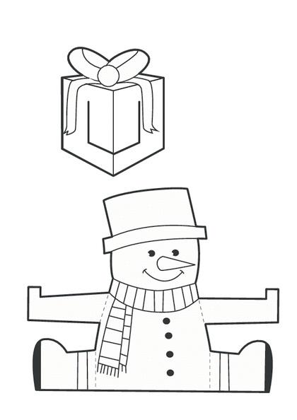 sněhulák tisk