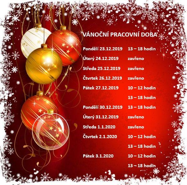 vánoční pracovní doba