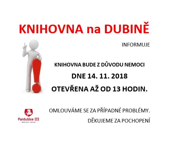 změna výpůjční doby 14.11.2018